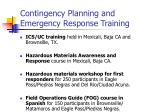 contingency planning and emergency response training