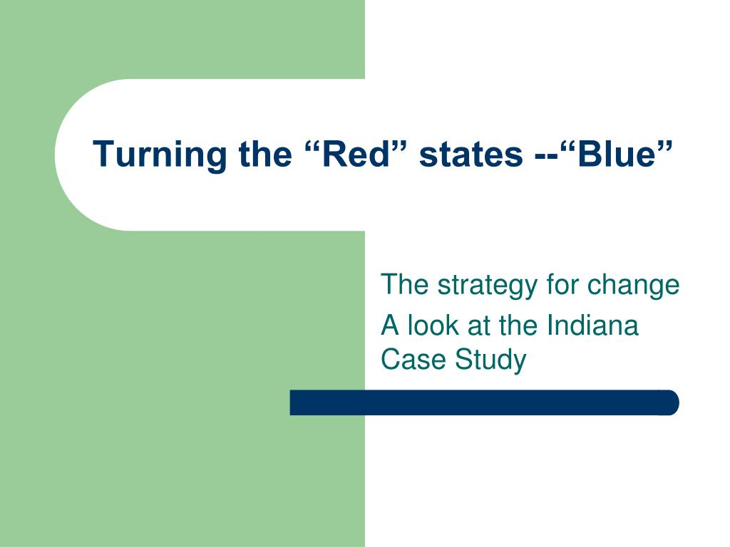 turning the red states blue l.