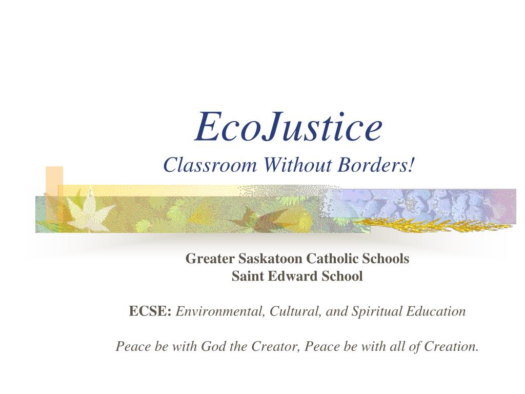 ecojustice classroom without borders l.