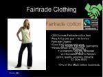 fairtrade clothing