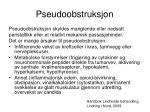 pseudoobstruksjon