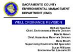 well ordinance revision