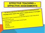 effective teaching effective assessments