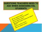 questions teachers need to ask when assessing esl students