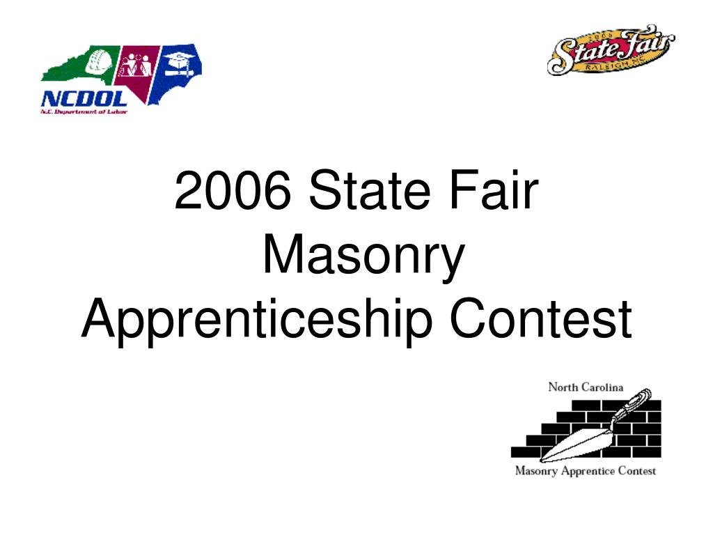 2006 state fair masonry apprenticeship contest l.