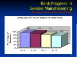 bank progress in gender mainstreaming social sectors ahead of non social sectors