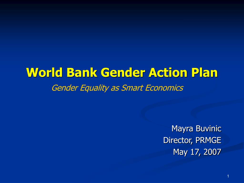 world bank gender action plan l.