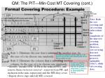 qm the pit min cost mt covering cont10