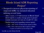 rhode island adr reporting project 3