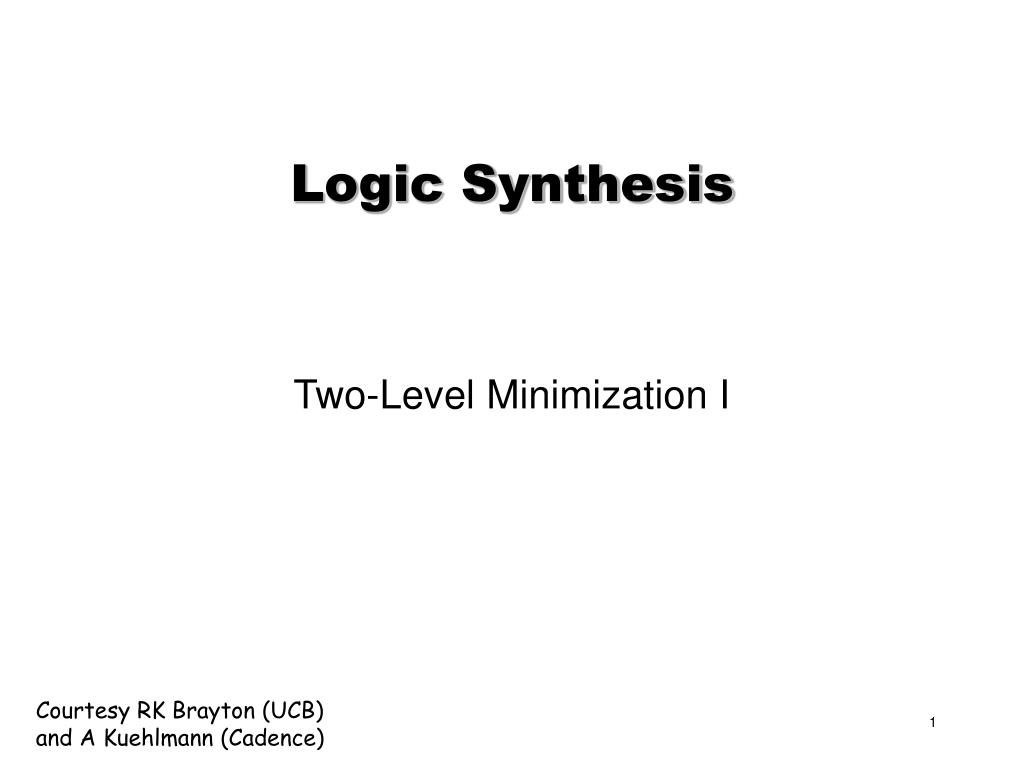 logic synthesis l.