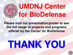 umdnj center for biodefense11