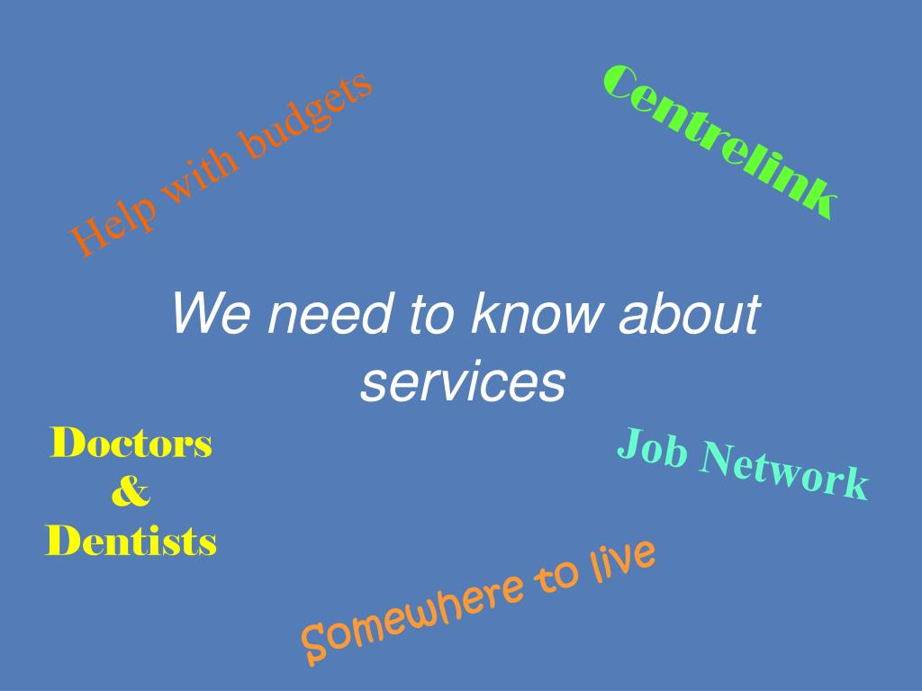We need to know about services