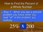 how to find the percent of a whole number32