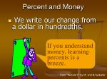 percent and money