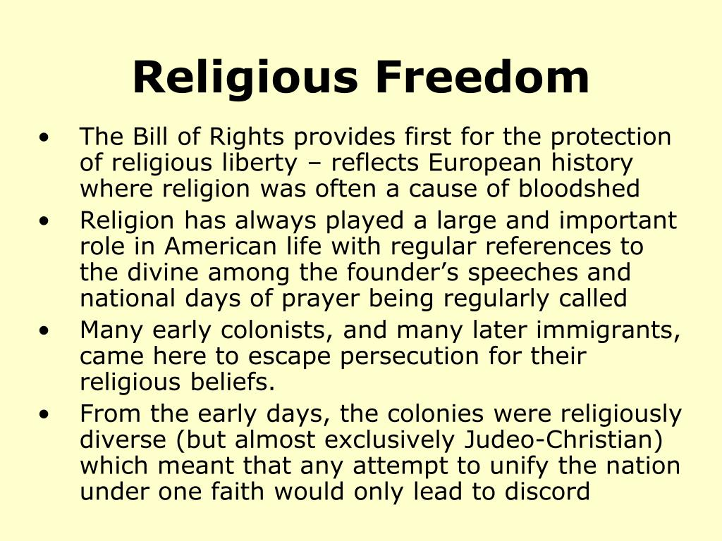 op ed freedom of religion Freedom of religion, as guaranteed by the first amendment of the united states constitution, involves two important components the first is a prohibition on the establishment of religion by government - the separation of church and state and the second, ensures that the government allows for the practice of religion (perry, 10.