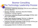 boomer consulting the technology leadership process