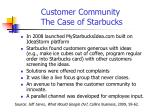 customer community the case of starbucks