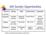 gift society opportunities