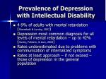 prevalence of depression with intellectual disability