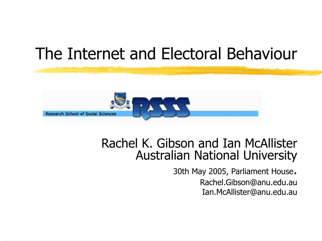 the internet and electoral behaviour l.