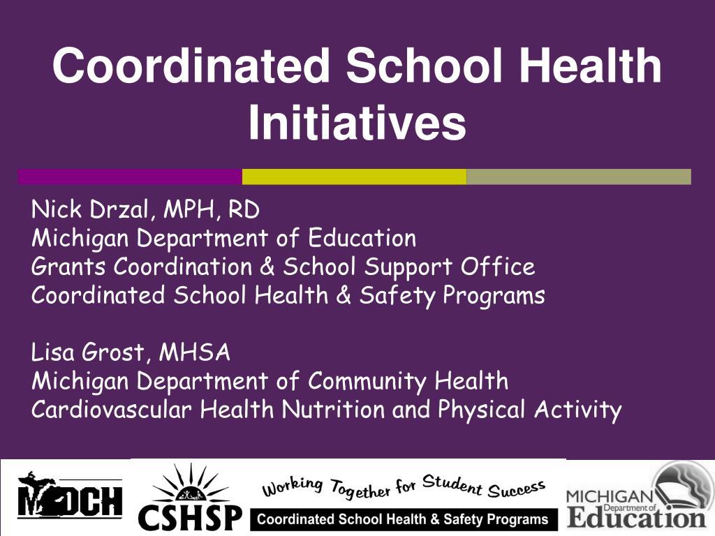 coordinated school health initiatives l.