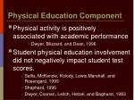 physical education component