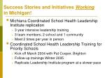 success stories and initiatives working in michigan