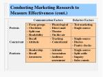 conducting marketing research to measure effectiveness cont4
