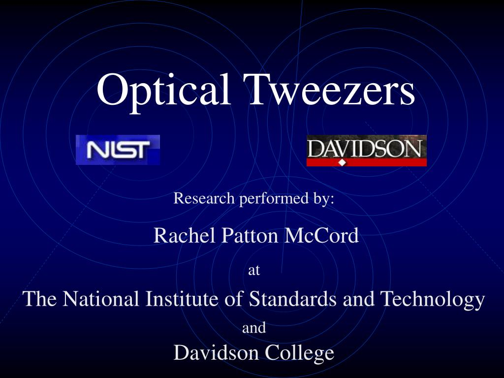 optical tweezers l.