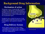 background drug information4