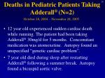 deaths in pediatric patients taking adderall n 2