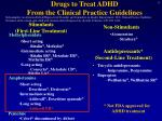 drugs to treat adhd from the clinical practice guidelines