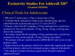 exclusivity studies for adderall xr granted 10 28 04