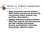 direct vs indirect assessment