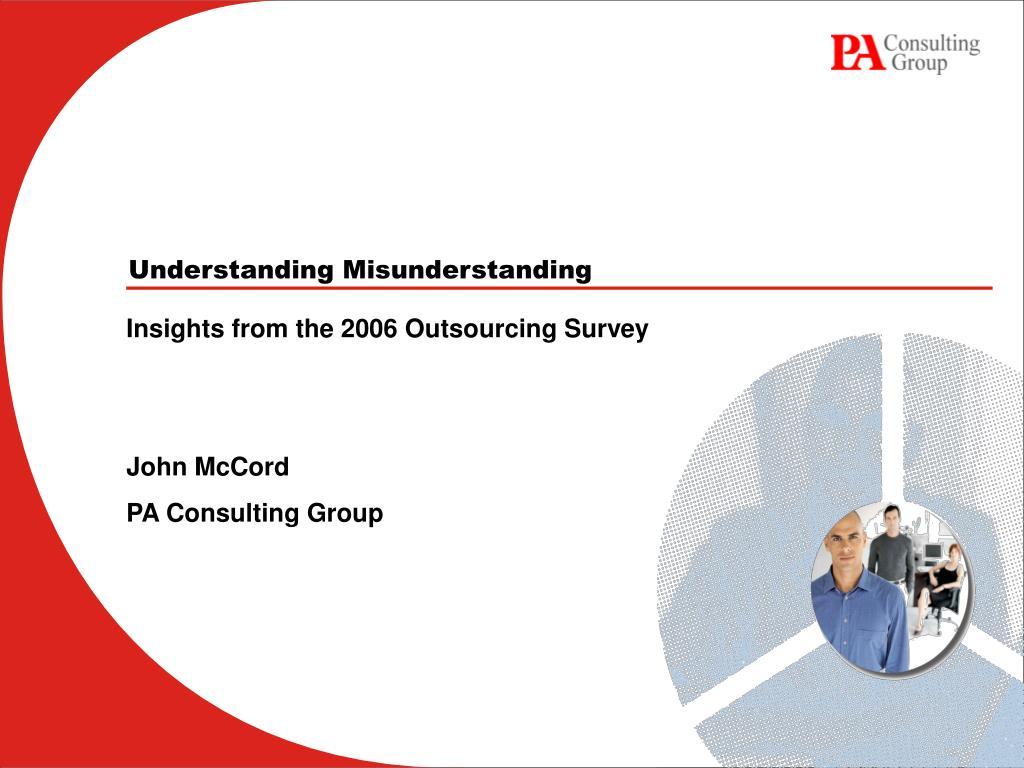 understanding misunderstanding l.