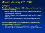 manam january 27 th 2005
