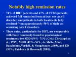 notably high remission rates