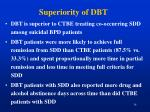 superiority of dbt