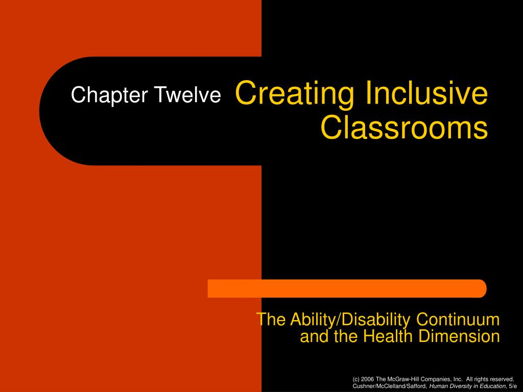 creating inclusive classrooms l.