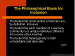 the philosophical basis for inclusion