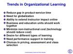 trends in organizational learning