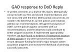 gao response to dod reply