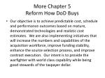 more chapter 5 reform how dod buys