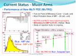 current status muon arms