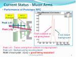 current status muon arms1