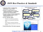 don best practices standards