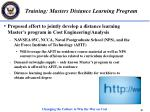 training masters distance learning program