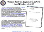 weapon systems acquisition reform act wsara of 2009