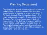 planning department