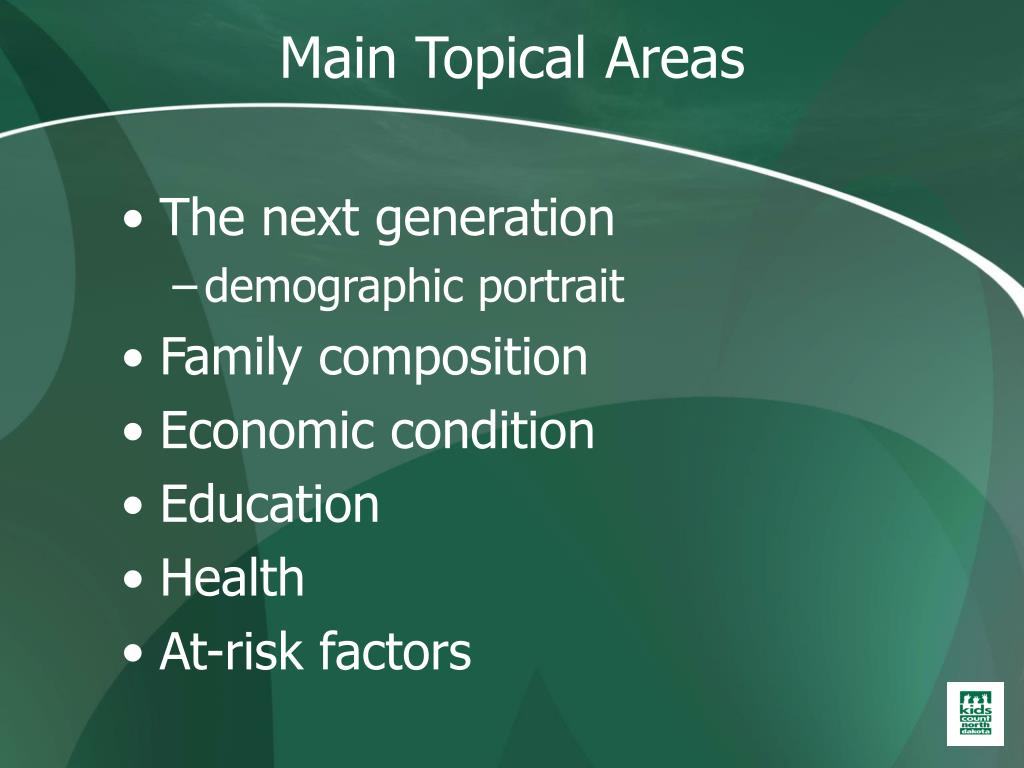 Main Topical Areas